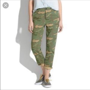 Madewell Camo Cropped Pants size 27